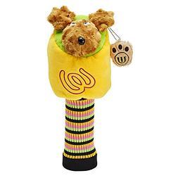 MU Sports Accessories Head Cover, Yellow, Medium