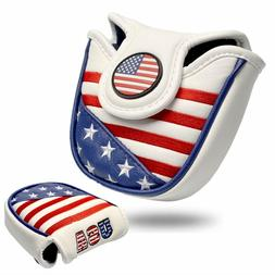 HEAVY DUTY Magnetic USA Military Mallet Putter Cover For Sco