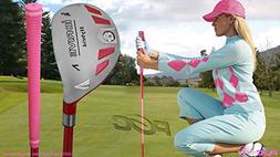 Integra Women's iDrive Golf Club All Ladies Pink Hybrid #7 L
