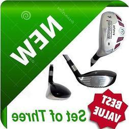 iDRIVE Hybrids Set of 3 Iron Woods RESCUE CLUBS #6 #7 #8 Gra