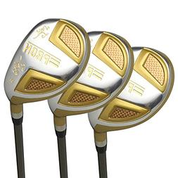 Japan Epron TRG Hybrids Golf Club Wood Set + Leather Cover