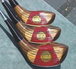 Wilson K-28 Golf Clubs Set Refinished Walnut Driver 3 5 Wood
