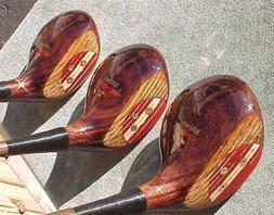 Wilson K-28 Golf Clubs Set Refurbished Driver 2 3 Woods w Ro