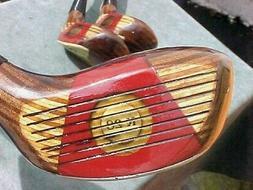 Wilson K-28 Golf Clubs Set Walnut Stain Driver 3 5 Woods w N