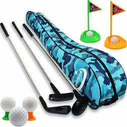 Kid's Toy Golf Clubs Set Deluxe Outdoor Golf Toy Set Toddler