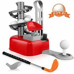 Kids Golf Toys Set for Kids Toddler Golf Set Outdoor Toys, B