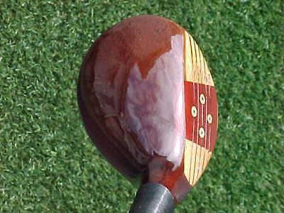 100 % Oil PERSIMMON Golf Club Wood Stiff & New Grip