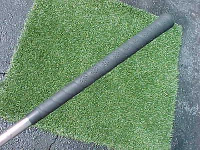100 % PERSIMMON Golf Club 4 w Stiff Steel & New Grip