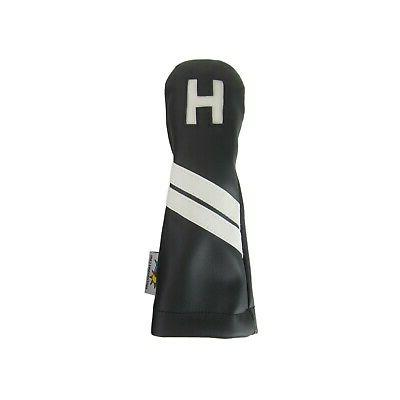 black and white leather h hybrid golf