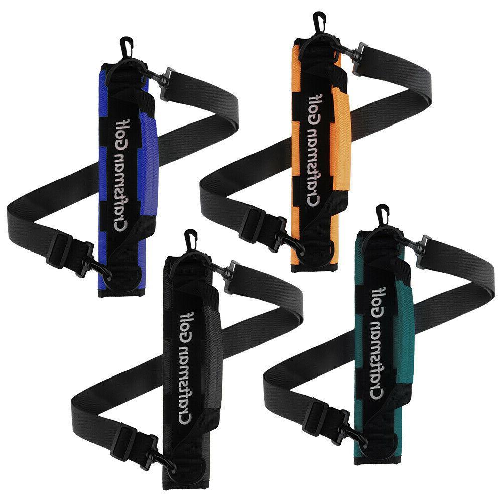 black orange golf clubs holder carrier portable