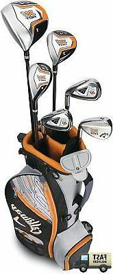 Callaway Boys XJ Hot Junior Kids Golf Club Set 9-12 Years Ol