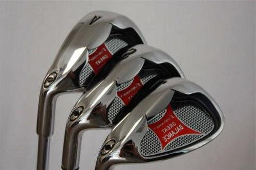 CUSTOM GOLF CLUBS SET AW SW 60 APPROACH SAND LOB IRONS