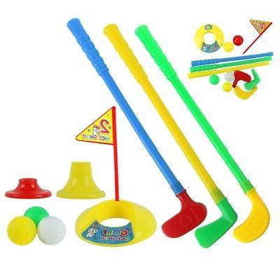 Plastic Mini Golf Toy Set Golf Clubs Practice Holes Golf Tee