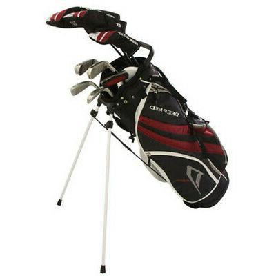 deep red tour golf clubs