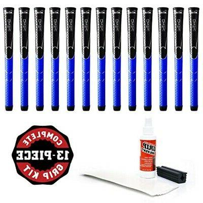Winn Dri-Tac Midsize +116-Inch Grip Kit , Black/Blue