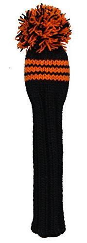 Sunfish Fairway Headcover, Black/Orange