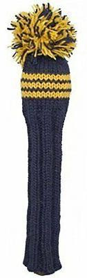 Sunfish Fairway Headcover, Navy/Yellow