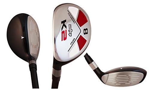 "Men's Golf Hybrid includes: #8, PW +SW Senior Flex Handed New ""A"" Flex"