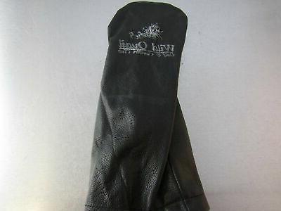 golf leather driver headcover black wild quail