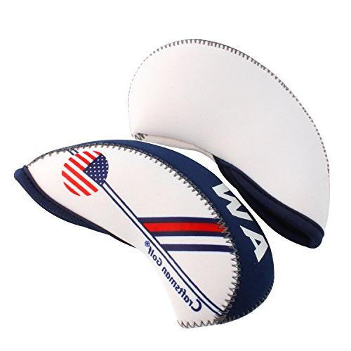 Blue US Flag Neoprene Wedge Protective For Taylormade,