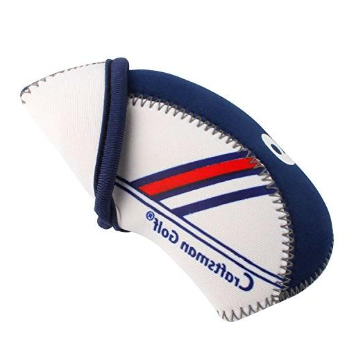 Blue Golf Club Wedge Iron Headcover For Titleist, Taylormade, Cobra, Nike,