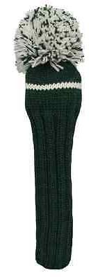 Sunfish green and white knit wool driver golf headcover