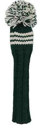 Sunfish green and white knit wool fairway golf headcover