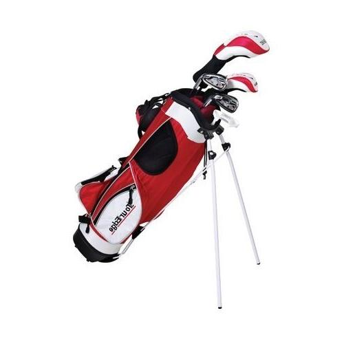 Tour 5x2 Golf Kit Ages 9-12 , Red
