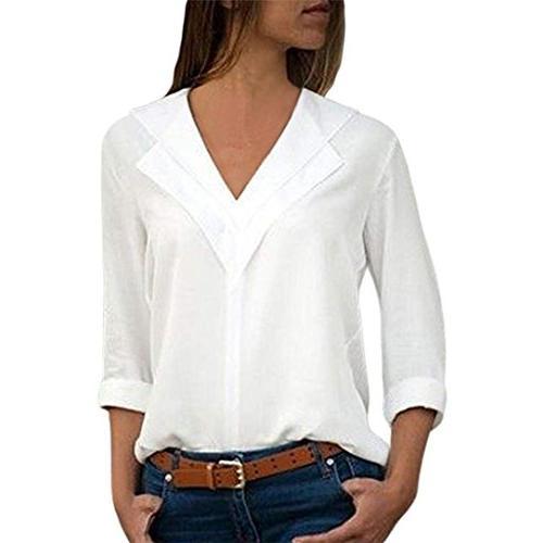 iybuia chiffon solid t shirt