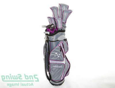 lady edge complete golf set silver purple