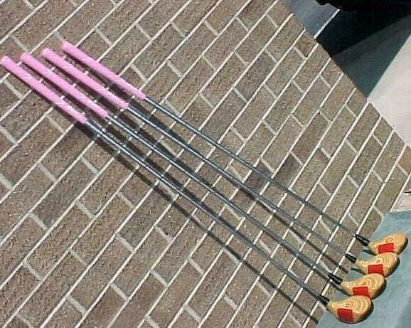 LADY Ping Eye 2 Clubs Blonde Woods Set Driver 3 5 7 New Pink