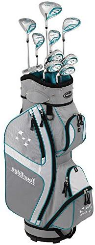 Tour Edge Lady Edge Golf Complete Package Set , Silver/Teal,