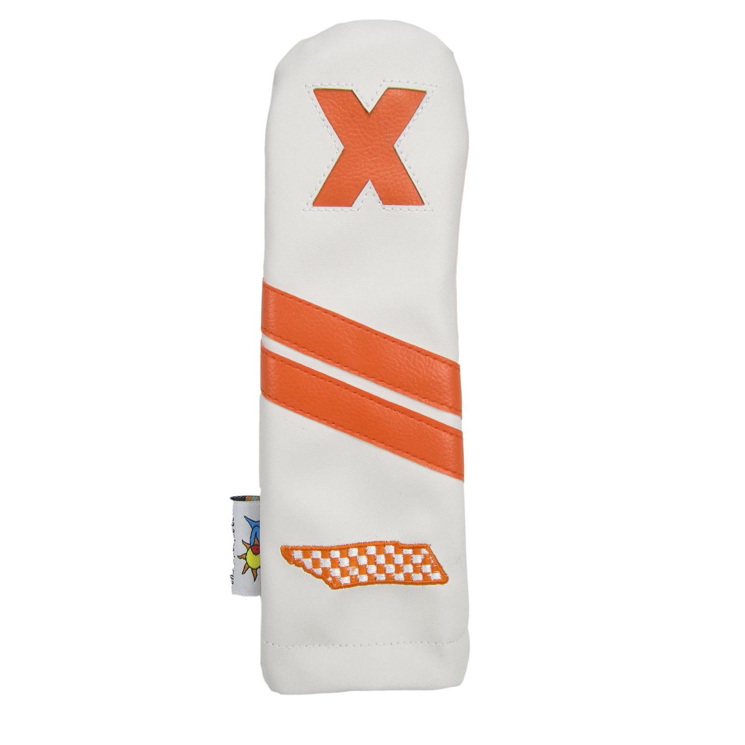 leather golf hybrid headcover tennessee volunteers white