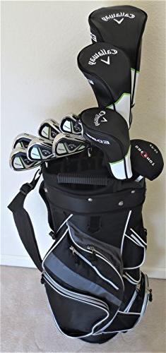 Callaway Mens Left Hand Golf Set Complete Driver, Fairway Wo