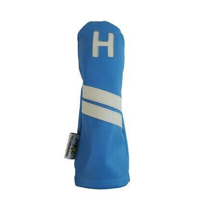 light blue leather h hybrid golf club