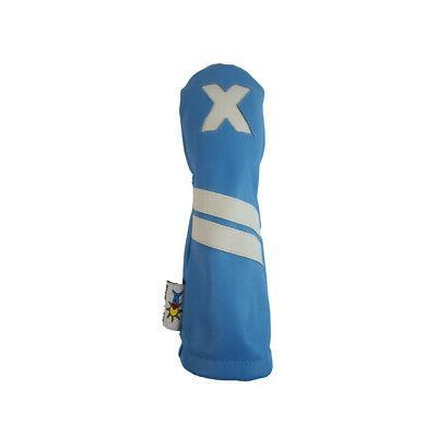 light blue leather x hybrid golf club