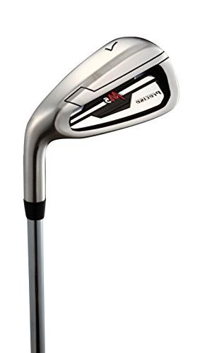 Top Handed M5 Golf Club Set Tall Men , Driver, Hybrid, 5, 8, 9, Stainless Irons with Temper Shafts, Stand &