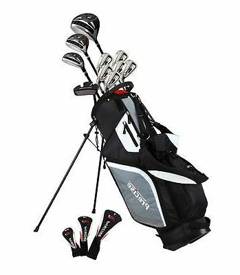 Precise M5 Men's Left Handed 15 Piece Complete Golf Clubs Pa