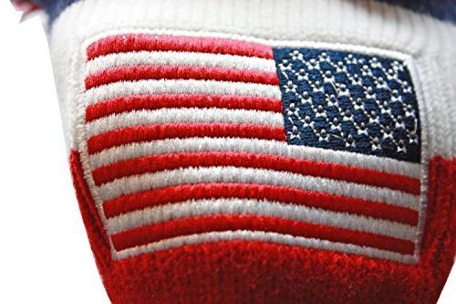 USA Majek Golf 3 4 5 Set Pom Knit Limited Classic Stars Red White Set