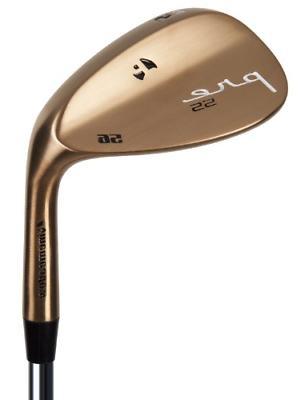 Pinemeadow Golf Men's Pre Bronze Wedge Right Hand, Steel, Re