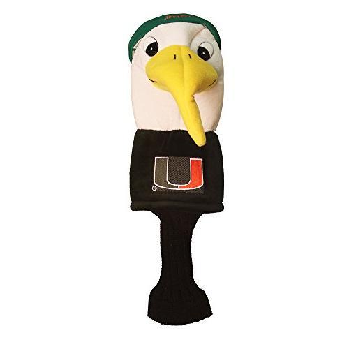 ncaa miami mascot head cover