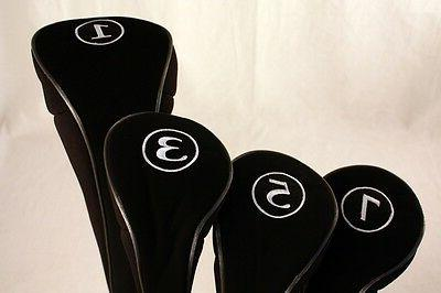 New Golf Clubs Covers Black Driver #1 3 5 7 Woods Headcover