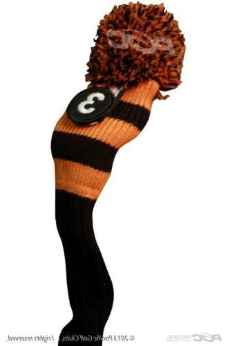 New BLACK 8 KNIT Rescue headcover cover SET
