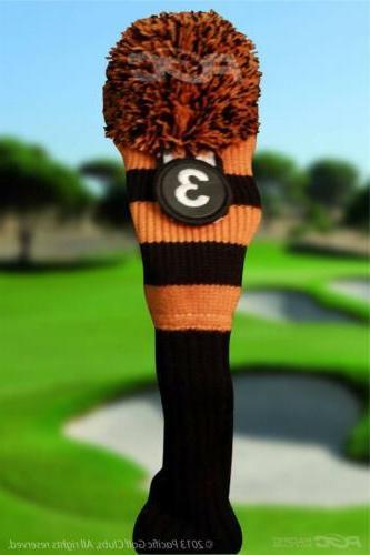 New BLACK 4 5 8 Rescue golf headcover cover