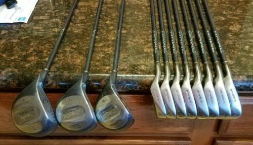 Nice Full Golf Set King Woods/Irons/Bag/Putter Graphite