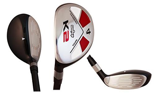 Majek Golf Hybrid Complete Full Set, which Includes: #4, 6, 7, 8, PW Senior Right Handed New Flex Club