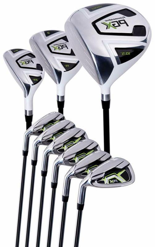 pinemeadow men s pgx golf set driver