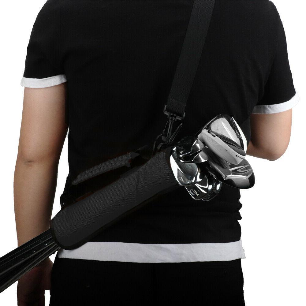 Black Golf Clubs Holder Carrier Case Bag USA