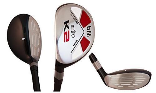 Majek Golf Clubs 55+ Handed Lady Full Hybrid Includes: #5, 6, 7, 8, 9, Flex New Utility Lady