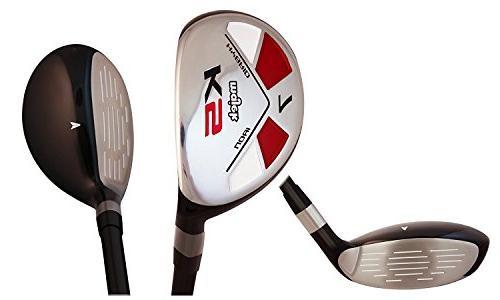"""Majek Men's Golf All Hybrid Set, which #6, 8, PW +SW Senior Flex Handed New Utility """"A"""" Flex Club"""